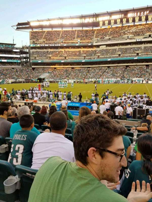 Lincoln Financial Field, section: 101, row: 7