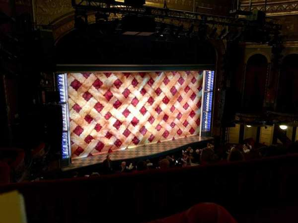 Brooks Atkinson Theatre, section: Rear Mezzanine L, row: E, seat: 01