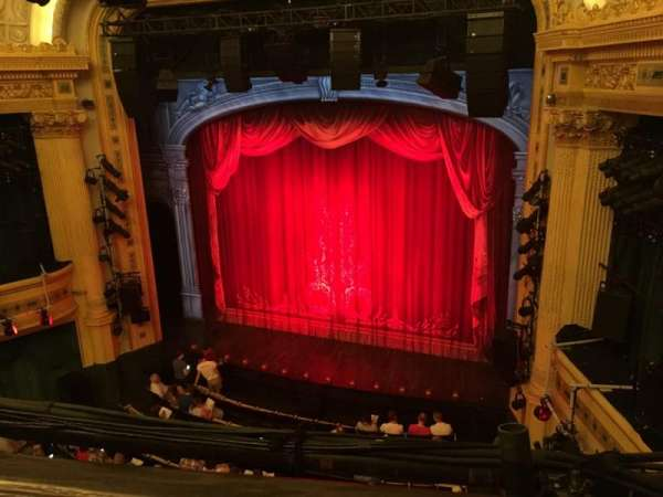 Hudson Theatre, section: Balcony R, row: A, seat: 4