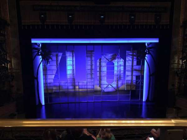 Nederlander Theatre, section: Mezzanine C, row: G, seat: 111