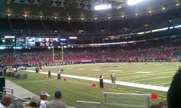 The Dome at America's Center, section: 134, row: f, seat: 10