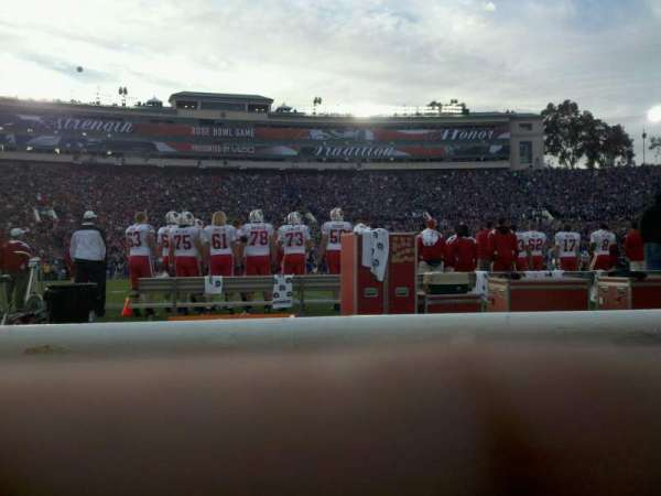Rose Bowl, section: 4-H, row: 1, seat: 108