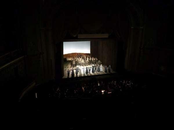 War Memorial Opera House, section: Dress Circle, row: A, seat: 7