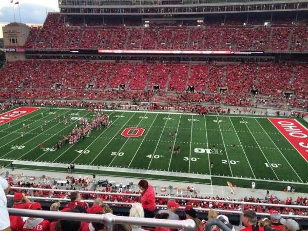 Ohio Stadium, section: 20C, row: 8, seat: 5