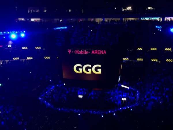 T-Mobile Arena, section: 206, row: Q, seat: 8