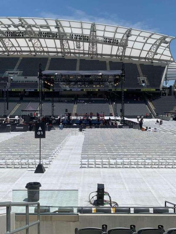 Banc of California Stadium, section: 128, row: D, seat: 17