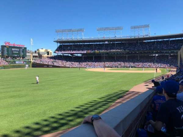 Wrigley Field, section: 101, row: 12, seat: 112