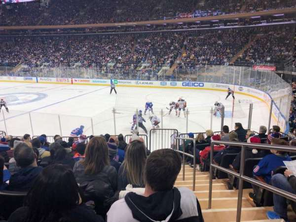 Madison Square garden, section: 109, row: 13, seat: 20