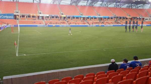 BBVA Compass Stadium, section 109, row g, home of Houston