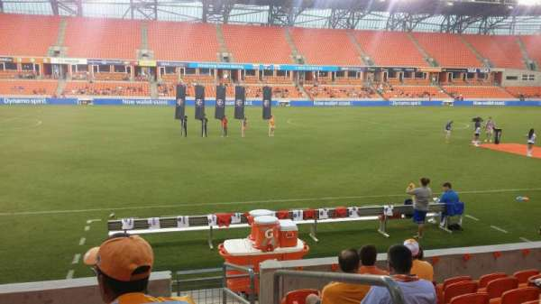 BBVA Compass Stadium, section: 108, row: h, seat: 1