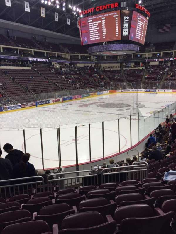 Giant Center, section: 116, row: M, seat: 5