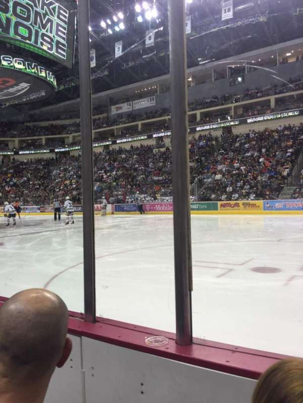 Giant Center, section: 109, row: B, seat: 2