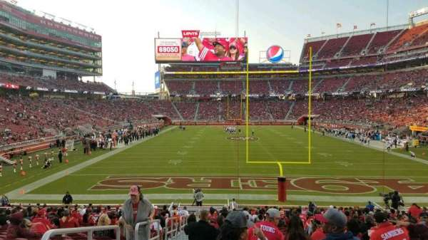 Levi's Stadium, section: 127, row: 24, seat: 23