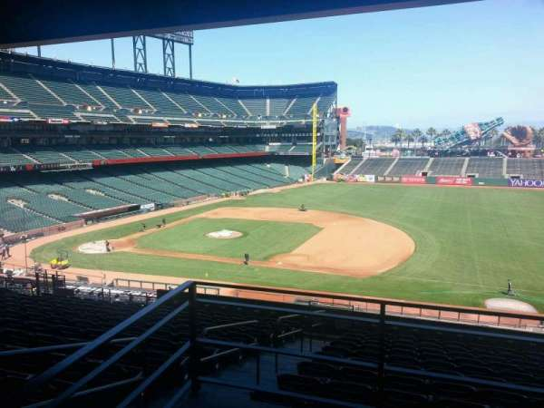 Oracle Park, section: 205, row: K, seat: 1