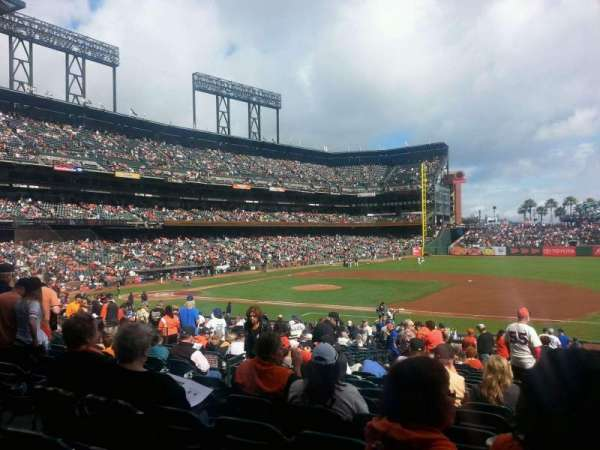 AT&T Park, section: 106, row: 30, seat: 9