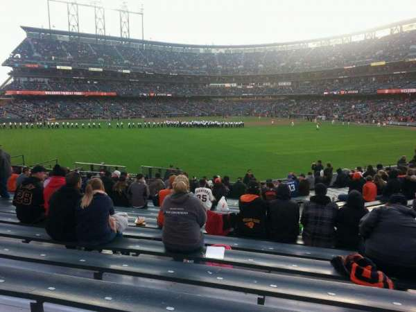 Oracle Park, section: 142, row: 18, seat: 9