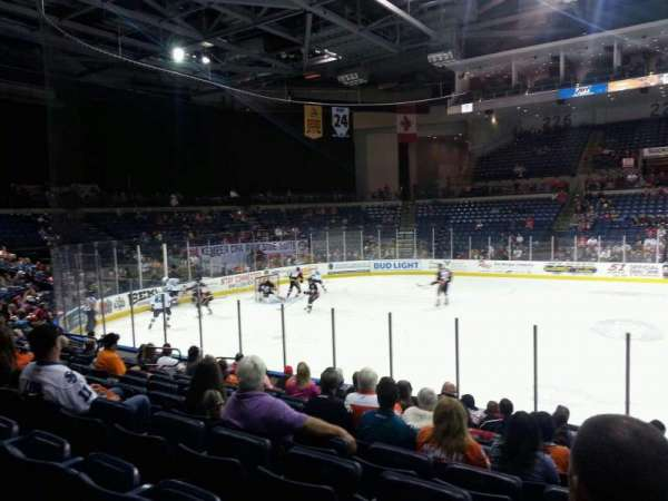 Stockton Arena, section: 116, row: 11, seat: 5