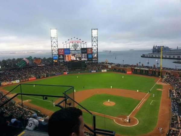 Oracle Park, section: VR318, row: 2, seat: 12