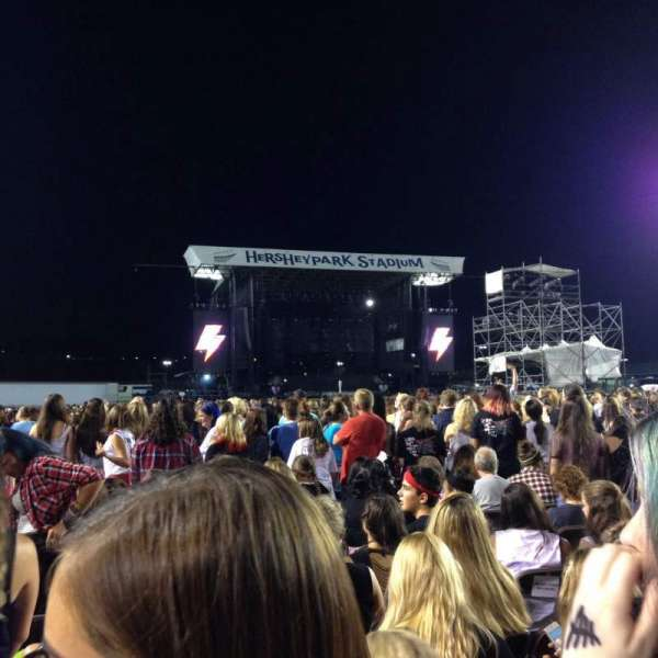 Hershey Park Stadium, section: G, row: 82, seat: 36