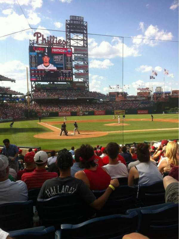 Citizens Bank Park, section: F, row: 15, seat: 9