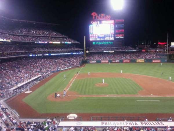 Citizens Bank Park, section: 217, row: 1, seat: 3