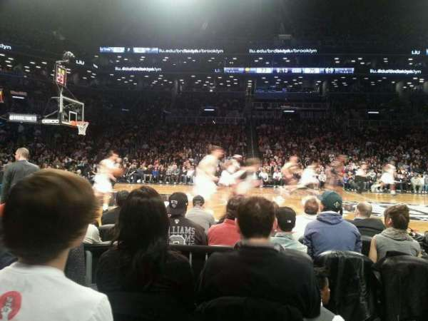 Barclays Center, section: 9, row: 1, seat: 8