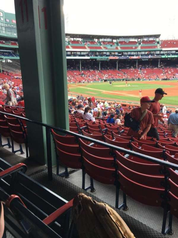 Fenway Park, section: Grandstand 11, row: 2, seat: 3