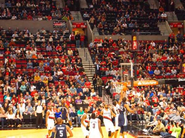 Moda Center, section: 122, row: J, seat: 14