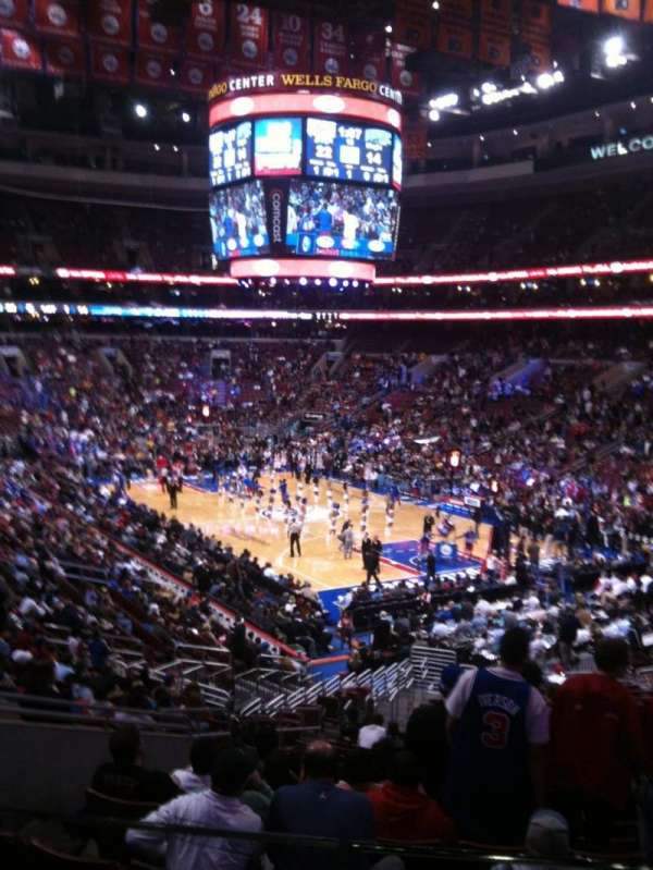 Wells Fargo Center, section: CC117, row: 1, seat: 8