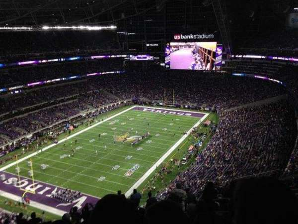 U.S. Bank Stadium, section: 321, row: 17