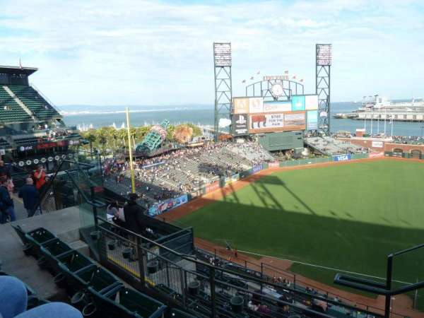 Oracle Park, section: VR326, row: 2, seat: 1