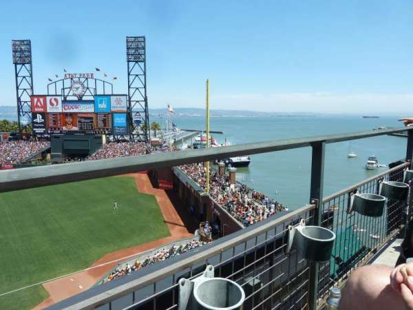 Oracle Park, section: VB304, row: A, seat: 15