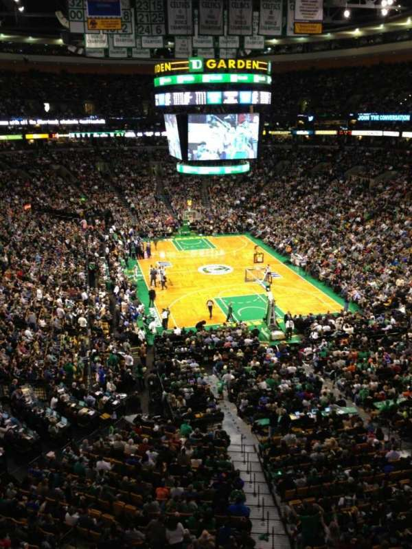TD Garden, section: Bal 309, row: 1, seat: 8