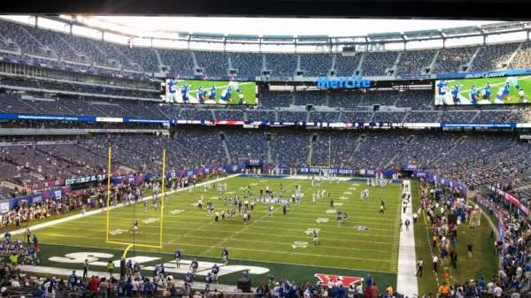 MetLife Stadium, section: 124, row: 45, seat: 5