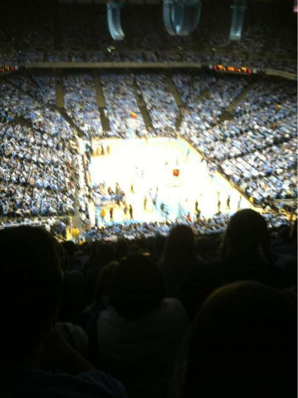 Dean E. Smith Center, section: 216, row: P, seat: 14