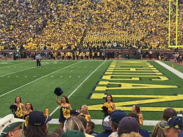 Michigan Stadium, section: 40, row: 6, seat: 10