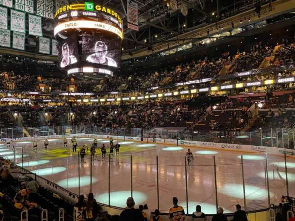 TD Garden, section: Loge 19, row: 13, seat: 15