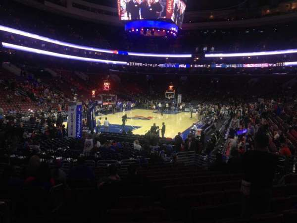 Wells Fargo Center, section: 121, row: 14, seat: 1-2