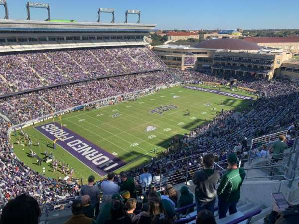 Amon G. Carter Stadium, section: 413, row: 8