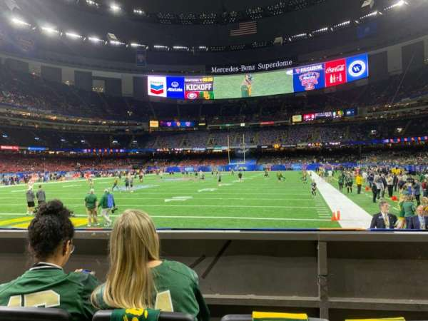 Caesars Superdome, section: 154, row: 3, seat: 7