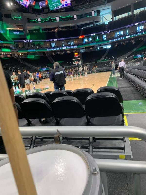 Fiserv Forum, section: 111, row: 1, seat: 1