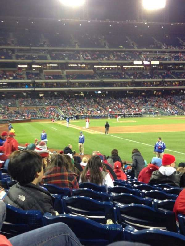 Citizens Bank Park, section: 109, row: 19, seat: 9