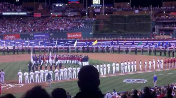 Citizens Bank Park, section: D, row: 19, seat: 9