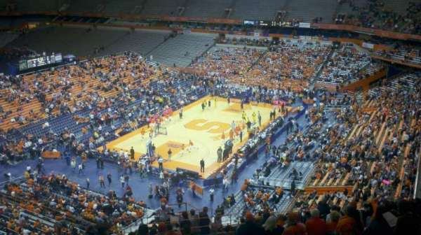 Carrier Dome, section: 314, row: V, seat: 3