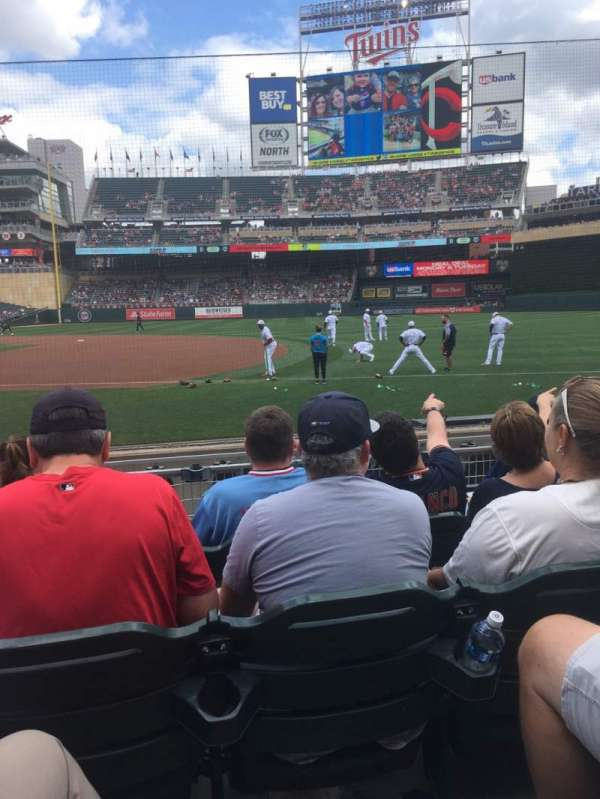 Target Field, section: 2, row: 8, seat: 6