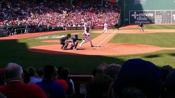 Fenway Park, section: Field Box 37, row: L, seat: 4