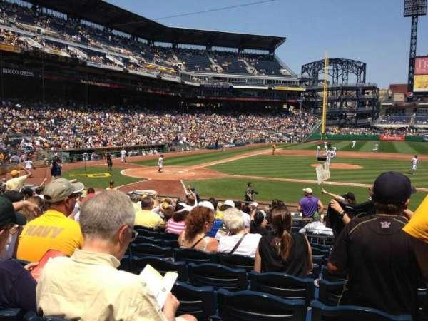 PNC Park, section: 113, row: G, seat: 13