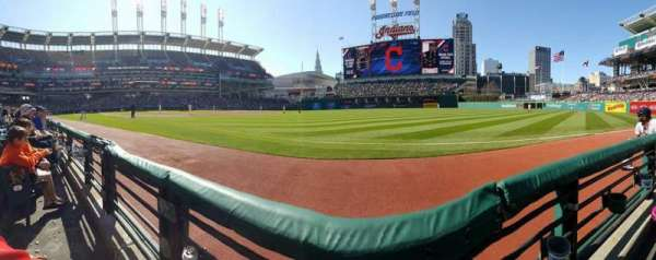Progressive Field, section: 130, row: A, seat: 10