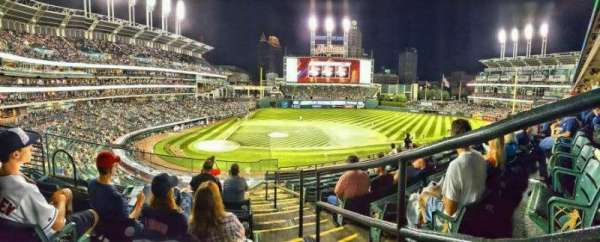 Progressive Field, section: 348, row: G, seat: 1