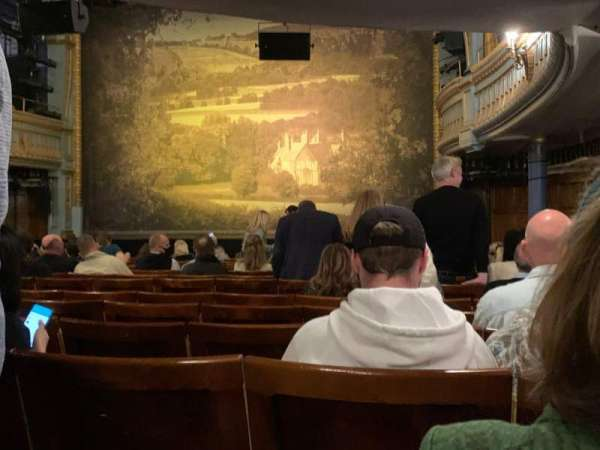 Harold Pinter Theatre, section: Stalls, row: O, seat: 4